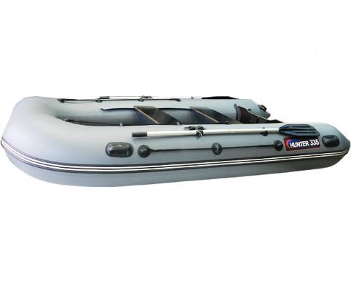 Хантер 335 килевая, со сплошным фанерным полом со стрингерами - моторная надувная лодка ПВХ