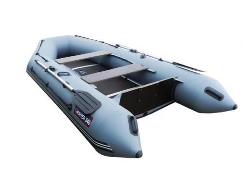 Хантер 340 килевая, со сплошным фанерным полом со стрингерами - моторная надувная лодка ПВХ
