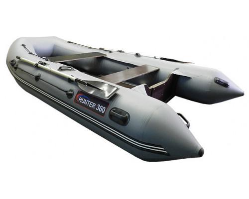 Хантер 360 килевая, со сплошным фанерным полом со стрингерами - моторная надувная лодка ПВХ