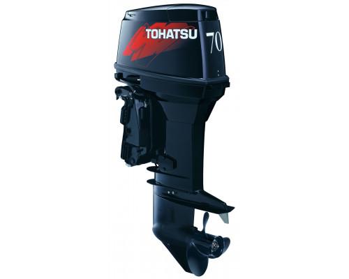 Tohatsu M70 EPTOL с ДУ и гидроподъёмником; впрыском масла; длинной ногой - 2х-тактный лодочный мотор