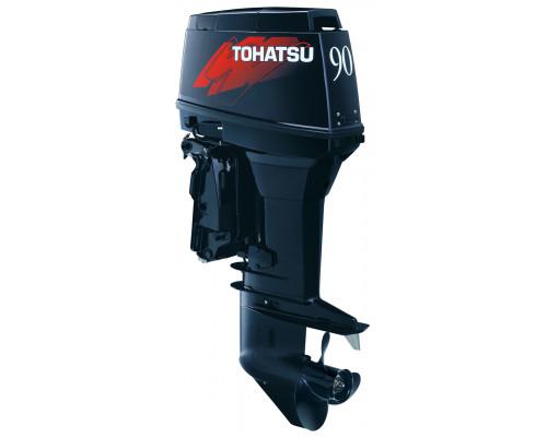 Tohatsu M90 EPTOL с ДУ и гидроподъёмником; впрыском масла; длинной ногой - 2х-тактный лодочный мотор