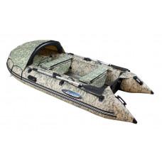 Гладиатор C370AL CAMO цифра (Active) килевая с алюминиевым полом со стрингерами - моторная надувная лодка ПВХ