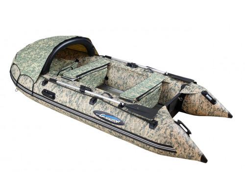 Гладиатор C400AL CAMO цифра (Active) килевая с алюминиевым полом со стрингерами - моторная надувная лодка ПВХ