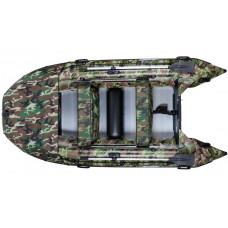 Гладиатор D330AL КМФ (Professional) килевая с алюминиевым полом, камуфляж - моторная надувная лодка ПВХ