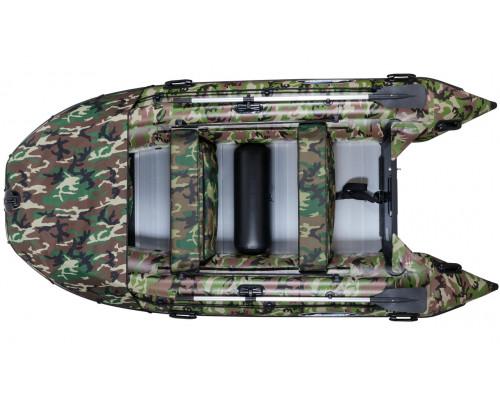 Гладиатор D370AL КМФ (Professional) килевая с алюминиевым полом, камуфляж - моторная надувная лодка ПВХ