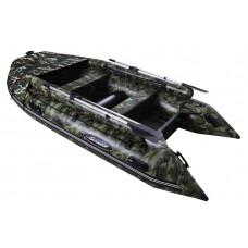 Гладиатор D470AL FB КМФ (Professional) с фальшбортом, алюминиевым полом, килевая - моторная надувная лодка ПВХ