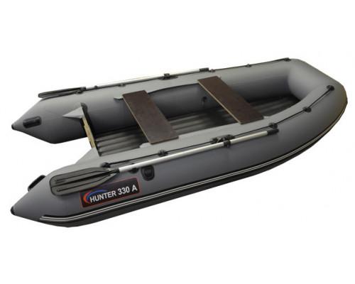 Хантер 330 А (НДНД) с умеренно-килеватым надувным дном низкого давления - моторная надувная лодка ПВХ