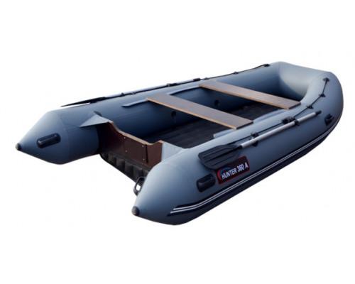 Хантер 360 А (НДНД) с умеренно-килеватым надувным дном низкого давления - моторная надувная лодка ПВХ