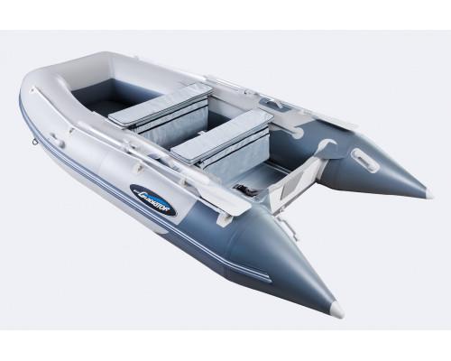 Гладиатор HD350AL (Heavy Duty) с алюминиевым полом, повышенной мореходности - моторная надувная лодка ПВХ