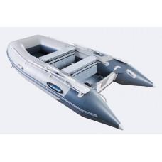 Гладиатор HD430AL (Heavy Duty) с алюминиевым полом, повышенной мореходности - моторная надувная лодка ПВХ