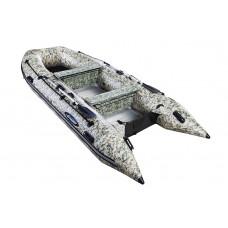 Гладиатор HD370AL CAMO (Heavy Duty) с алюминиевым полом, повышенной мореходности - моторная надувная лодка ПВХ