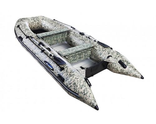 Гладиатор HD430AL CAMO (Heavy Duty) с алюминиевым полом, повышенной мореходности - моторная надувная лодка ПВХ
