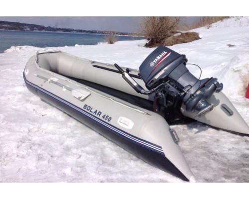 SOLAR-450 МК с надувным дном низкого давления (НДНД), малокилевая - моторная надувная лодка ПВХ