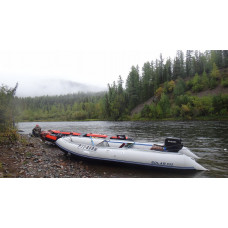SOLAR-555 МК с надувным дном низкого давления (НДНД), малокилевая - моторная надувная лодка ПВХ