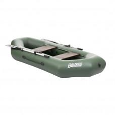 Лодка ПВХ с надувным дном Тонар Бриз А260 (зеленая)
