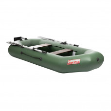 Лодка ПВХ под мотор Тонар Шкипер 260НТ (зеленая)