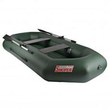 Лодка ПВХ с надувным дном Тонар Шкипер А260 (зеленая)