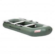 Лодка ПВХ с надувным дном Тонар Шкипер А280 (зеленая)