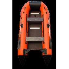 Лодка надувная под мотор Пилигрим-360 оранжево-черный