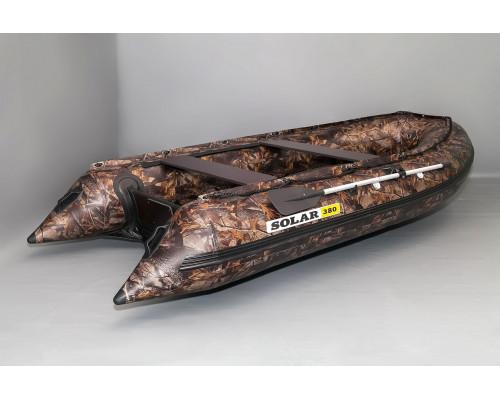 SOLAR-380 Jet камуфляж с водоводным тоннелем, надувным дном (НДНД) - моторная надувная лодка ПВХ