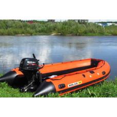 SOLAR-420 Jet с водоводным тоннелем, надувным дном (НДНД) - моторная надувная лодка ПВХ