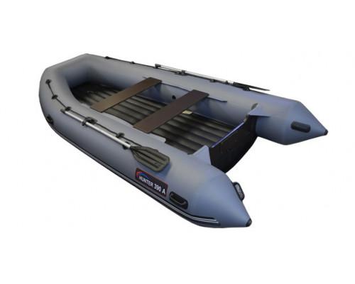 Хантер 390 А (НДНД) с умеренно-килеватым надувным дном низкого давления - моторная надувная лодка ПВХ