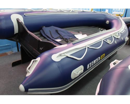 СОЛАР Максима-420К с надувным дном низкого давления (НДНД), килевая - моторная надувная лодка ПВХ