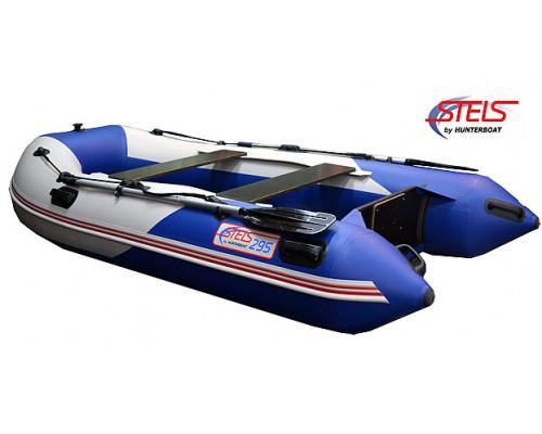 СТЕЛС 295 килевая, со сплошным фанерным полом со стрингерами - моторная надувная лодка ПВХ
