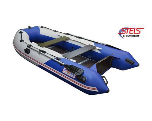 СТЕЛС 315 килевая, со сплошным фанерным полом со стрингерами - моторная надувная лодка ПВХ