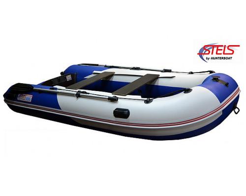 СТЕЛС 335 килевая, со сплошным фанерным полом со стрингерами - моторная надувная лодка ПВХ