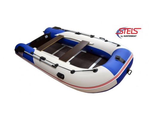 СТЕЛС 355 килевая, со сплошным фанерным полом со стрингерами - моторная надувная лодка ПВХ