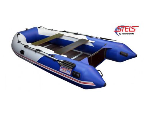 СТЕЛС 375 килевая, со сплошным фанерным полом со стрингерами - моторная надувная лодка ПВХ