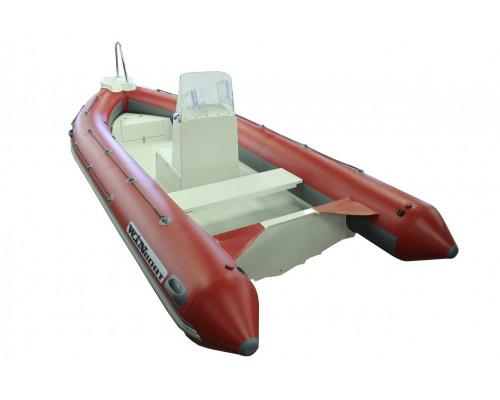 WinBoat 485R LUXE с плоской палубой, двумя рундуками -  классический РИБ - жёстко-надувная моторная лодка