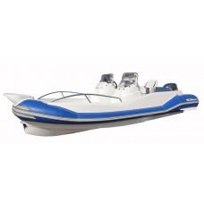 WinBoat R53 с парной рулевой консолью, широким кокпитом, рундуками - РИБ - жёстко-надувная моторная лодка