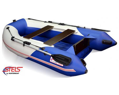СТЕЛС 255 АЭРО (НДНД) с умеренно-килеватым надувным дном низкого давления - моторная надувная лодка ПВХ