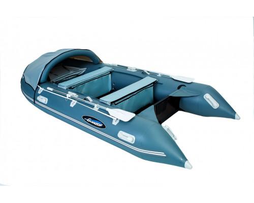 Гладиатор C370 (Active) килевая со сплошным фанерным полом со стрингерами - моторная надувная лодка ПВХ