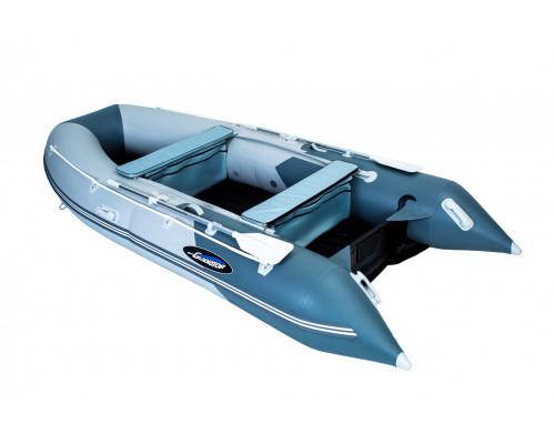Гладиатор E380 (Air) с надувным дном низкого давления (НДНД) - моторная надувная лодка ПВХ