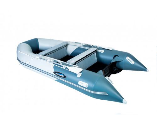 Гладиатор E420 (Air) с надувным дном низкого давления (НДНД) - моторная надувная лодка ПВХ