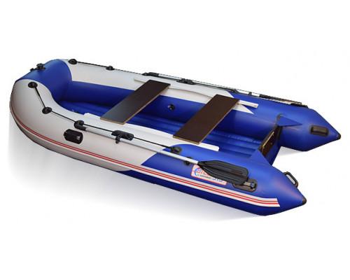 СТЕЛС 315 АЭРО (НДНД) с умеренно-килеватым надувным дном низкого давления - моторная надувная лодка ПВХ