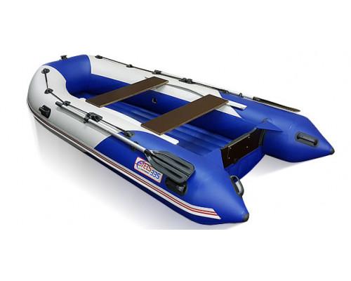СТЕЛС 335 АЭРО (НДНД) с умеренно-килеватым надувным дном низкого давления - моторная надувная лодка ПВХ