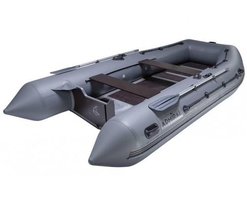 Адмирал 410 повышенной мореходности с килем и фанерным пайолом со стрингерами - моторная надувная лодка ПВХ