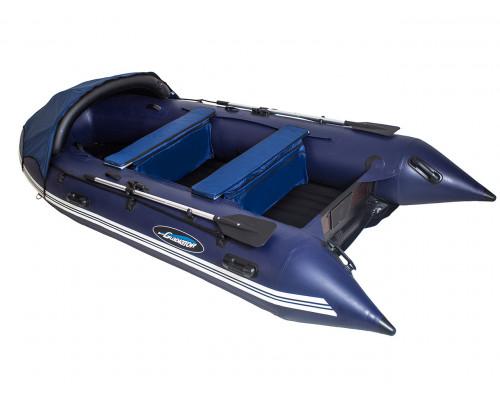 Гладиатор E450 (Air) с надувным дном низкого давления (НДНД) - моторная надувная лодка ПВХ