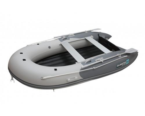 Гладиатор E340TR (Air) с надувным дном тримаран низкого давления (НДНД) - моторная надувная лодка ПВХ