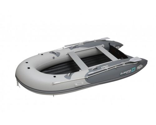 Гладиатор E380TR пилотная - с надувным дном тримаран низкого давления (НДНД) - моторная надувная лодка ПВХ