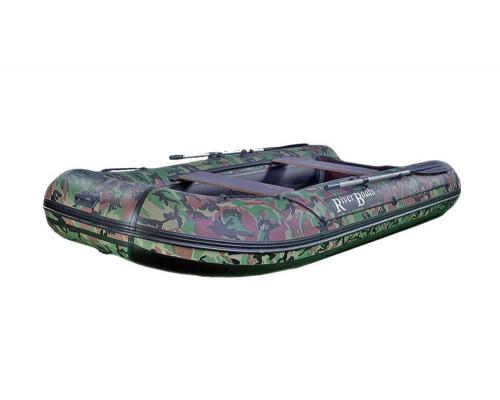 Riverboats RB-330 камуфляж килевая, с фанерным пайолом со стрингерами - моторная надувная лодка ПВХ