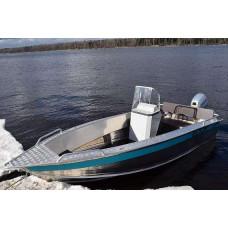 Алюминиевая лодка NewStyle 411 - с консолью