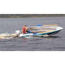 Алюминиевая лодка NewStyle 430 NexT - румпельная