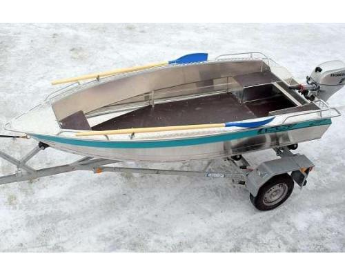 Алюминиевая лодка NewStyle 410 NexT - румпельная