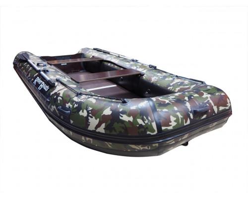 Riverboats RB-370 камуфляж килевая, с фанерным пайолом со стрингерами - моторная надувная лодка ПВХ