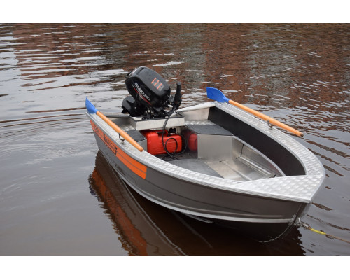 Wellboat-37 easy - алюминиевая моторная лодка